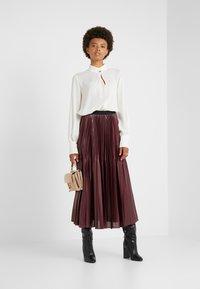 Marella - SUPER - A-line skirt - bordeaux - 1