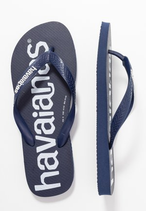 TOP LOGOMANIA PRINT UNISEX - Pool shoes - navy blue
