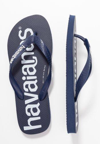 TOP LOGOMANIA  - Pool shoes - navy blue