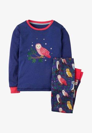 Pyjama set - segelblau, eulen
