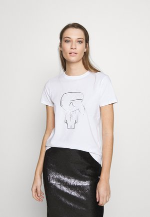 FADED IKONIK - T-shirts med print - white