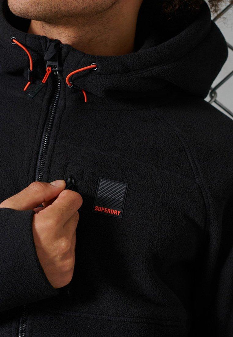 Superdry - POLAR FLEECE - Zip-up hoodie - black