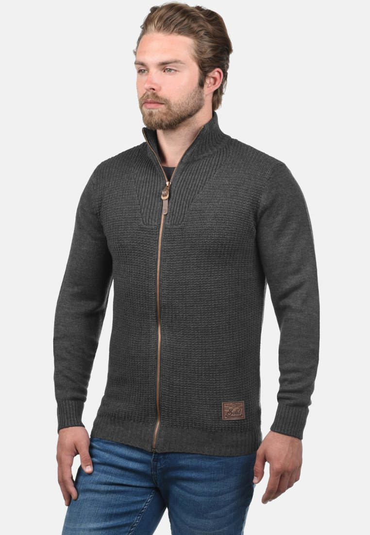 Solid - TRISTAN - Cardigan - dark grey