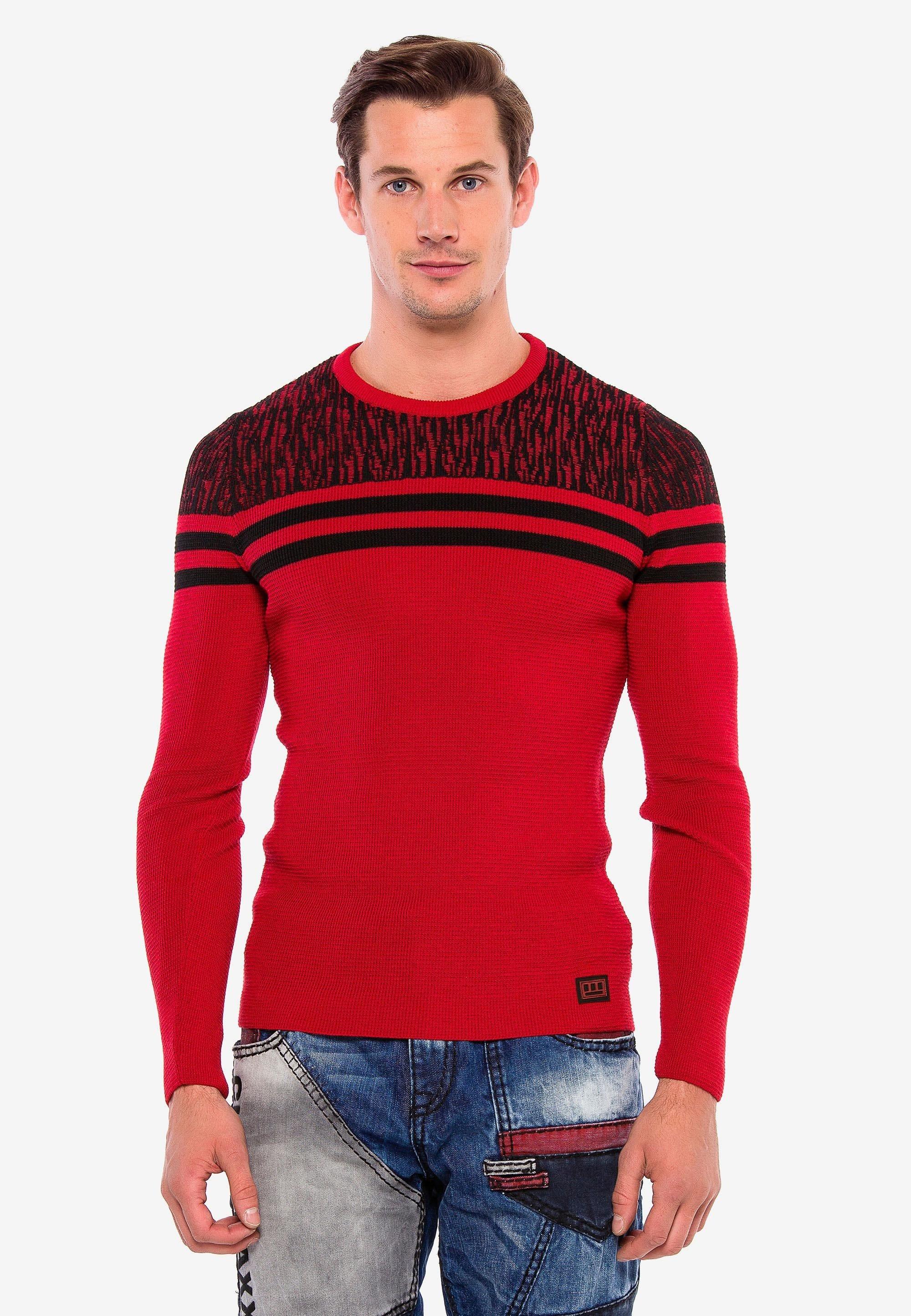 Homme MIT COOLEN STREIFEN-DETAILS - Pullover