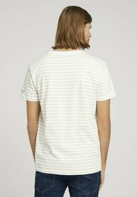 TOM TAILOR DENIM - Print T-shirt - yellow white thin stripe - 2