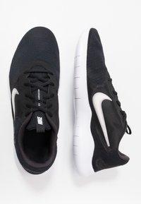 Nike Performance - FLEX EXPERIENCE RUN 9 - Competition running shoes - black/white/dark smoke grey - 1