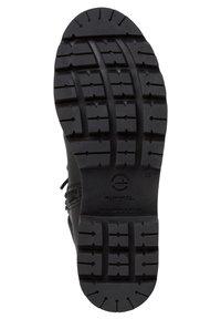 Tamaris - Cowboy/biker ankle boot - black comb - 4