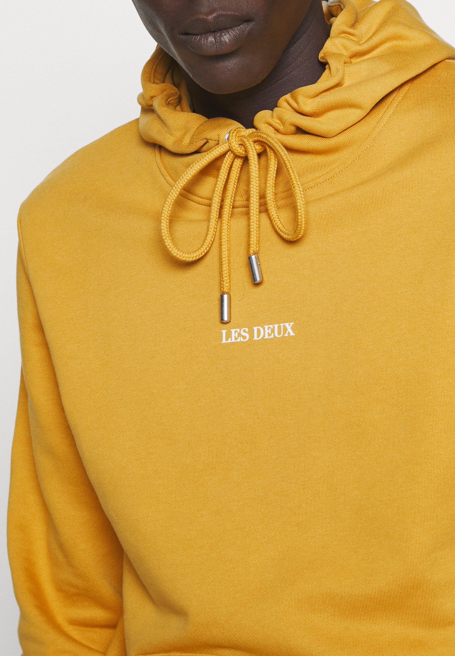 Les Deux LENS HOODIE - Sweat à capuche - yellow / white