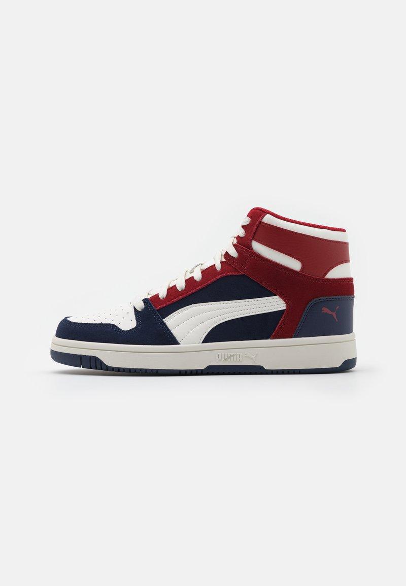 Puma - REBOUND LAYUP UNISEX - Sneakers hoog - peacoat/vaporous gray/red dahlia