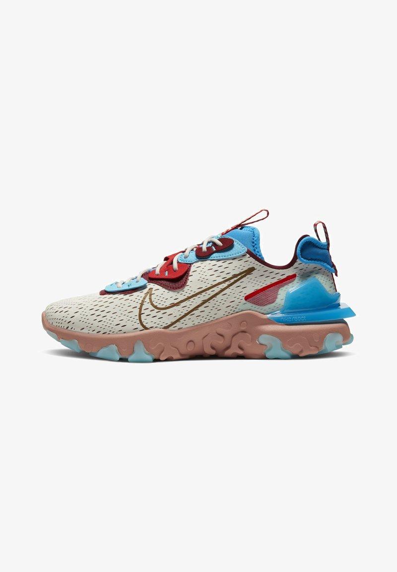 Nike Sportswear - REACT VISION  - Trainers - light bone photo blue team red terra blush