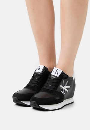 WEDGE LACEUP - Sneakers laag - black