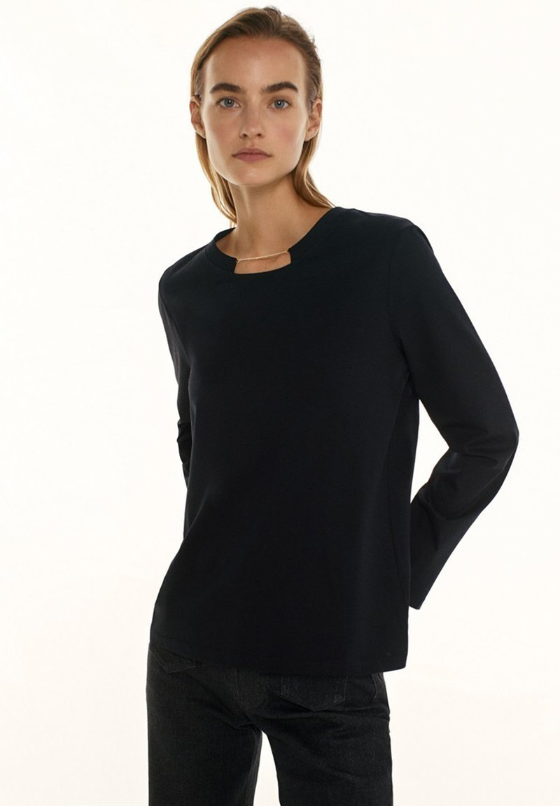 Massimo Dutti - Long sleeved top - black