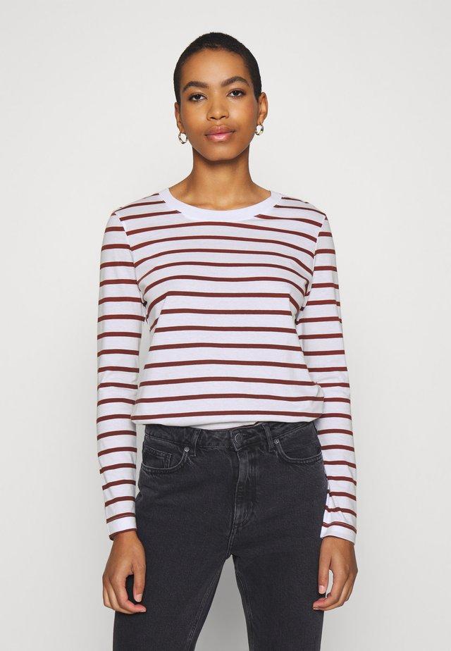SLFSTANDARD NEW TEE - Bluzka z długim rękawem - red/bright white