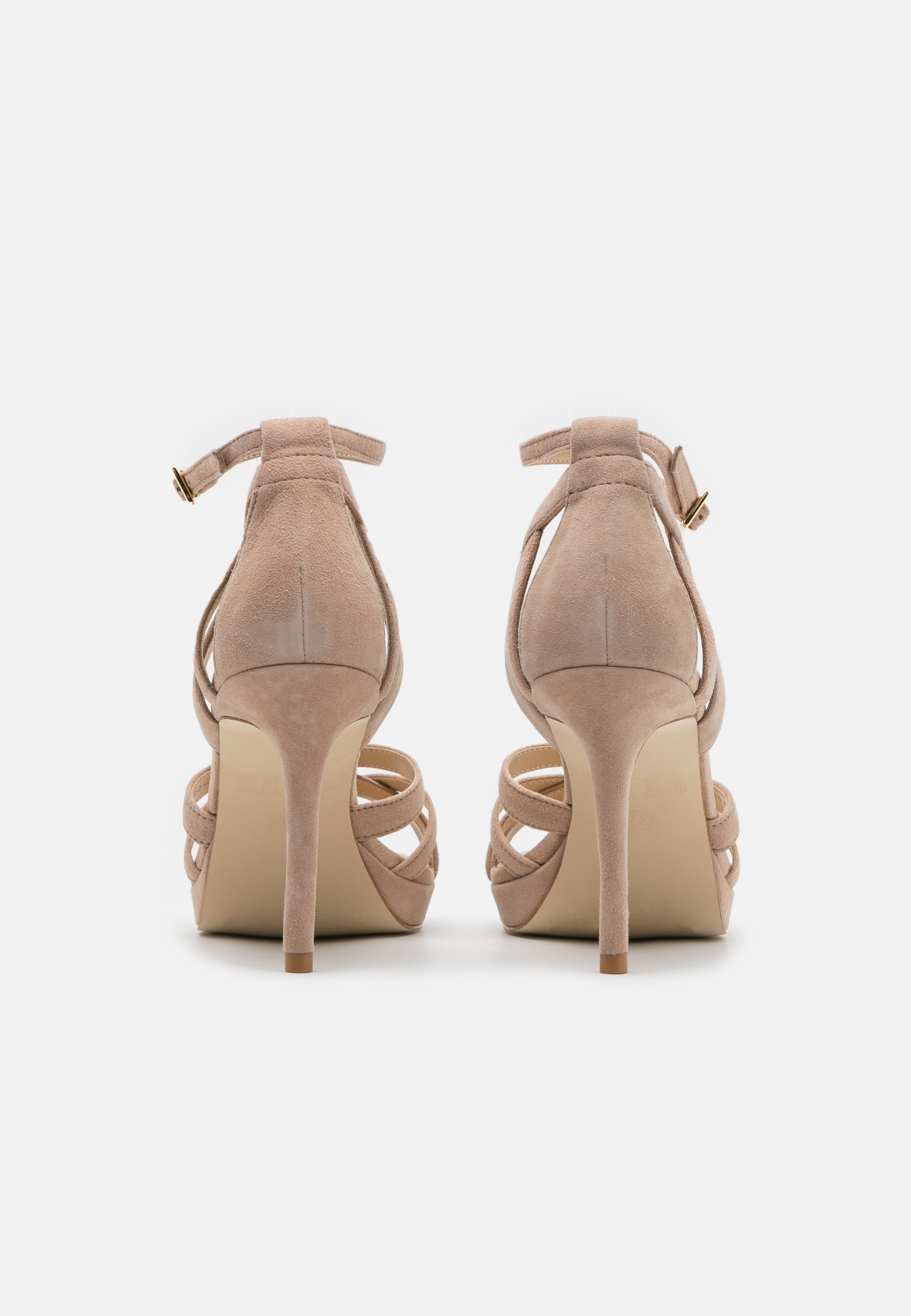 Women LEATHER - High heeled sandals