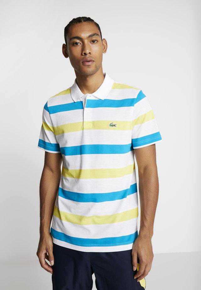 Polo shirt - white/lemon/cuba/calluna