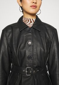 Deadwood - TYRA JACKET - Leather jacket - black - 9