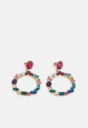 PCMOLLYA EARRINGS  - Kolczyki - gold colour/pink-multi