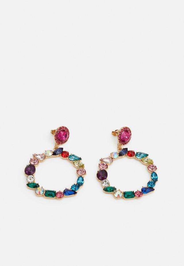 PCMOLLYA EARRINGS  - Ohrringe - gold colour/pink-multi