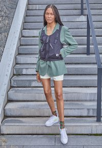 Nike Sportswear - BLAZER PLATFORM - Trainers - white/light lemon twist/black/team orange - 0