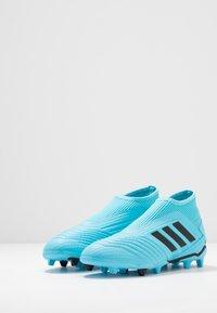 adidas Performance - PREDATOR 19.3 FG - Moulded stud football boots - bright cyan/core black/solar yellow - 3