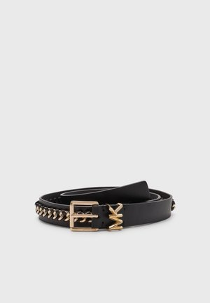 BELT WITH CHAIN - Belte - black/gold