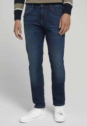 TROY  - Slim fit jeans - dark stone wash denim