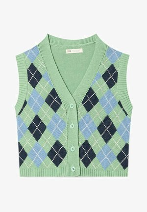 MIT KNÖPFEN - Waistcoat - green