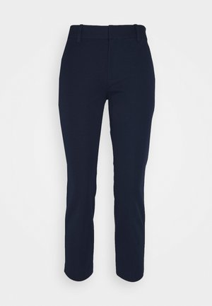 HIGH RISE SLIM ANKLE - Trousers - tapestry navy