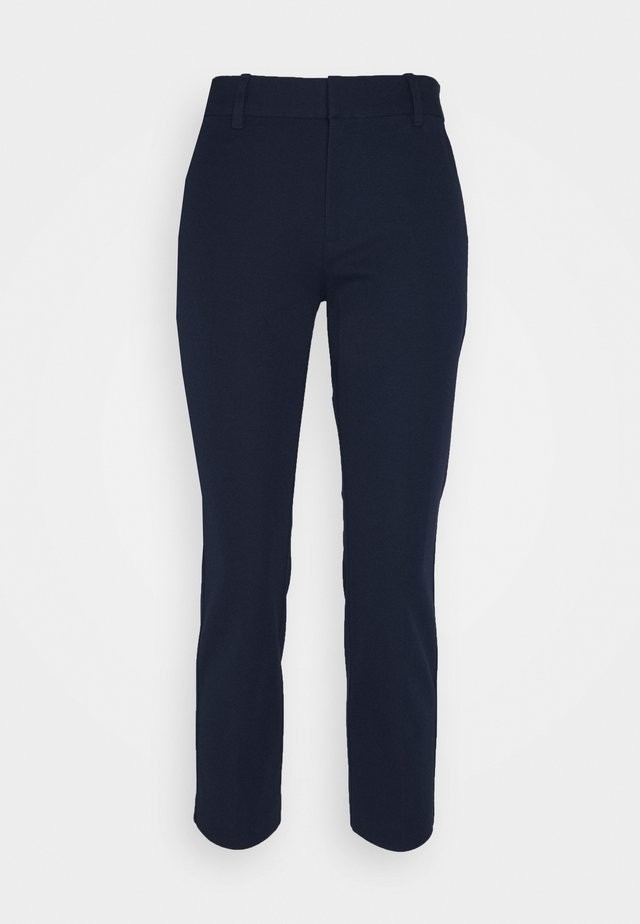 HIGH RISE SLIM ANKLE - Broek - tapestry navy