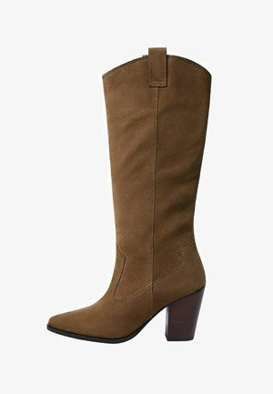 FIRST - High heeled boots - tobacco-braun