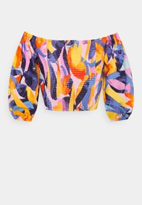 Gina Tricot - BOEL ROUCHED BLOUSE - Blouse - tropical - 1