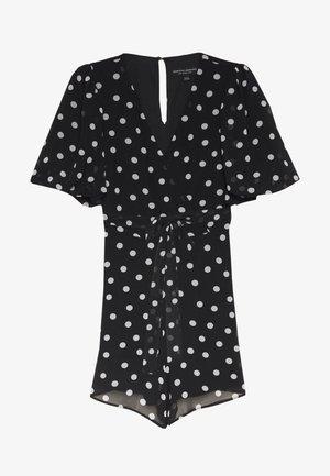 SPOT BALLOON SLEEVE PLAYSUIT - Jumpsuit - black