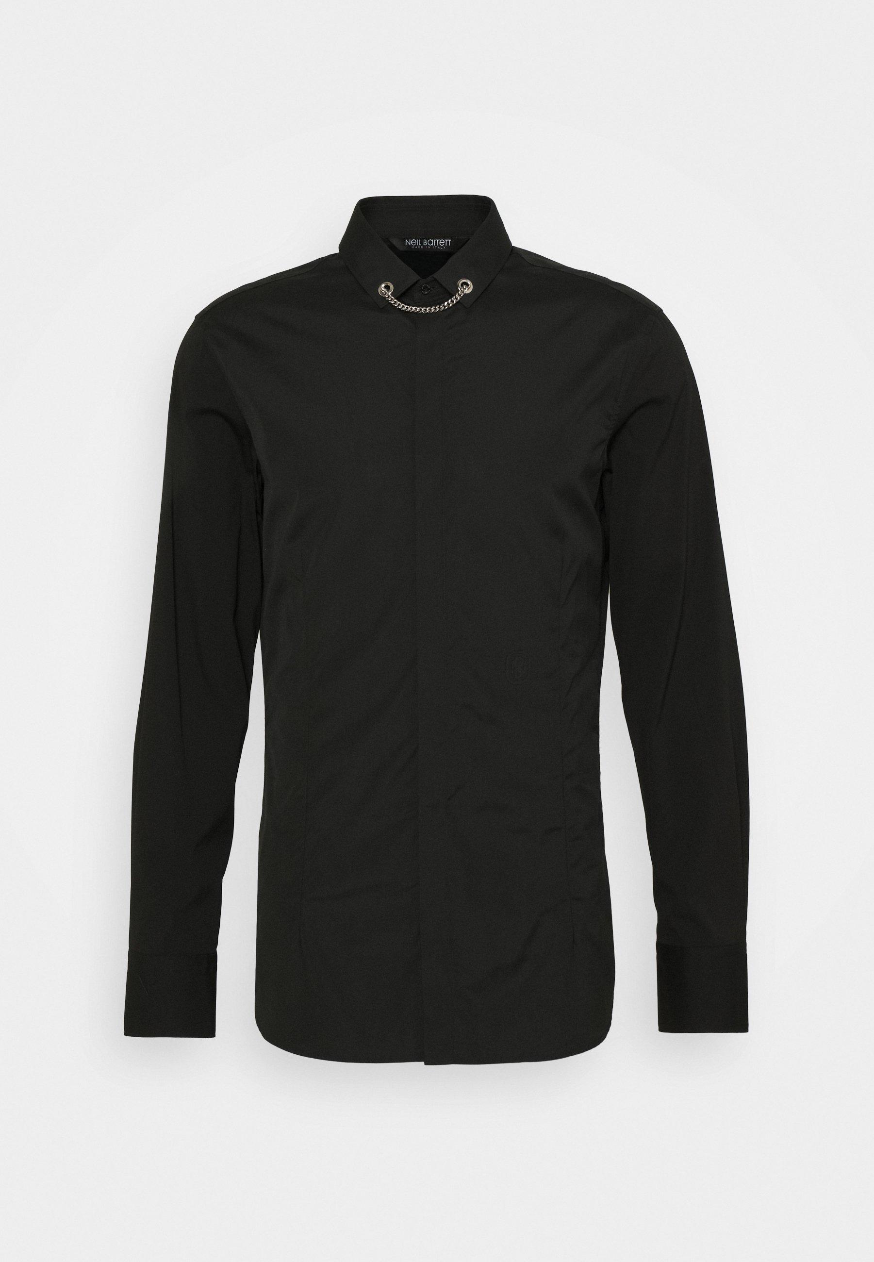 Neil Barrett Tuxedo Flat Necklac - Hemd Black