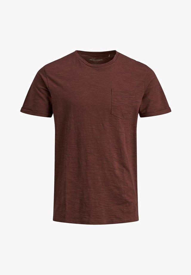 SLIM FIT - T-shirt basique - hot chocolate