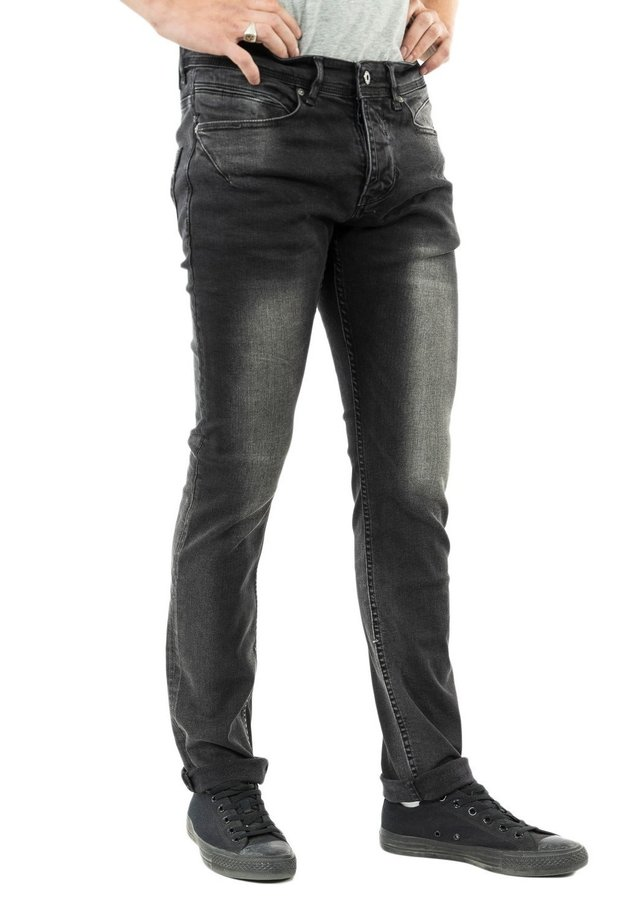 HAMSHE - Jean slim - noir
