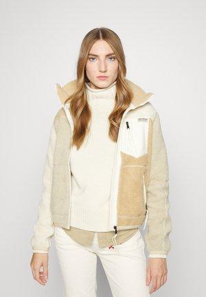 LONG SLEEVE FULL ZIP - Fleece jacket - tan/multi coloured