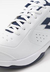 Lotto - SPACE 600 II - Zapatillas de tenis para todas las superficies - all white/navy blue - 6