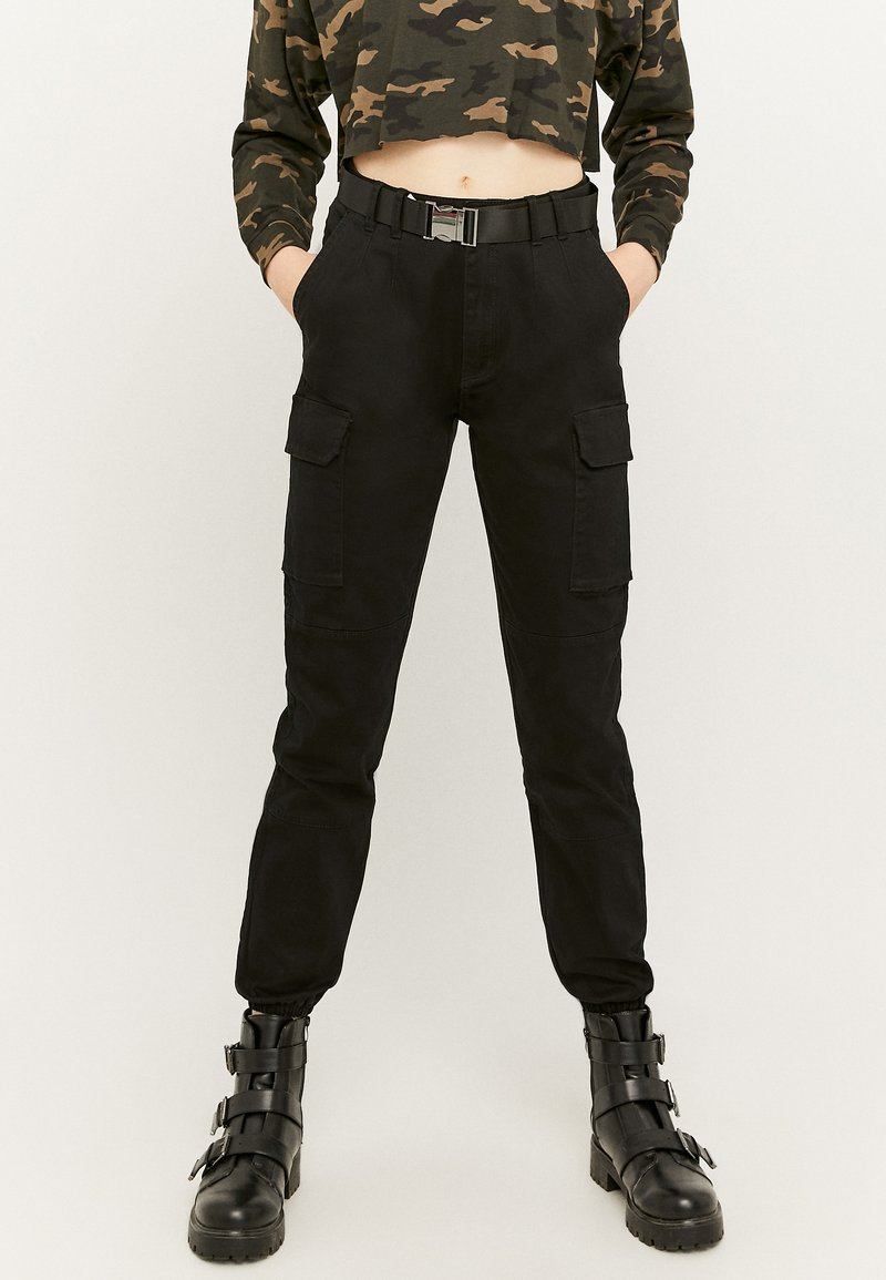 TALLY WEiJL - HIGH WAIST  - Pantaloni cargo - black