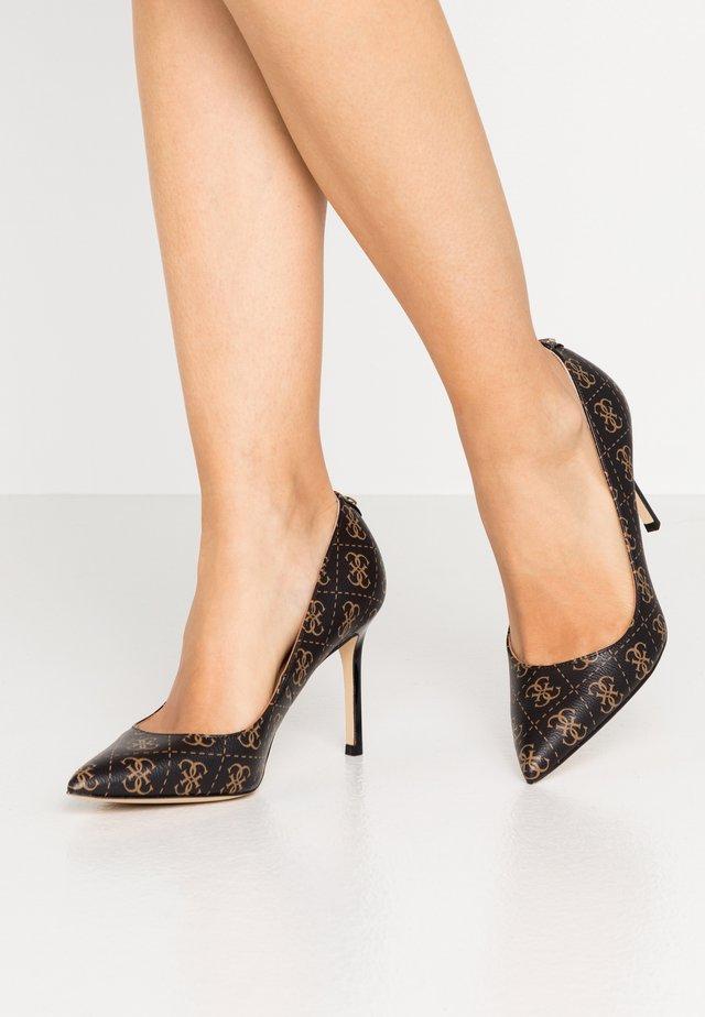 DAFNE - Zapatos altos - brown/ocra