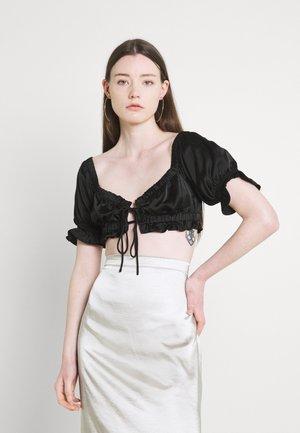 JANE CROPPED - Print T-shirt - black
