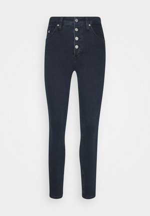 HIGH RISE SUPER SKINNY - Jeans Skinny Fit - dark blue denim
