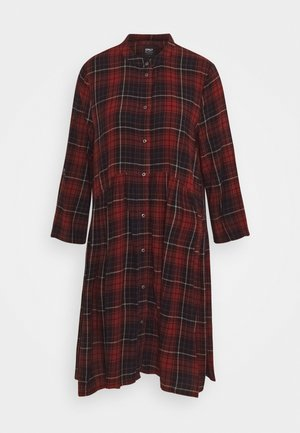 ONLCHICAGO LIFE CHECK DRESS  - Shirt dress - black/red