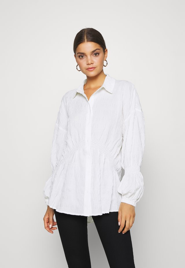 STRUCTURED COLLAR BLOUSE - Bluser - white