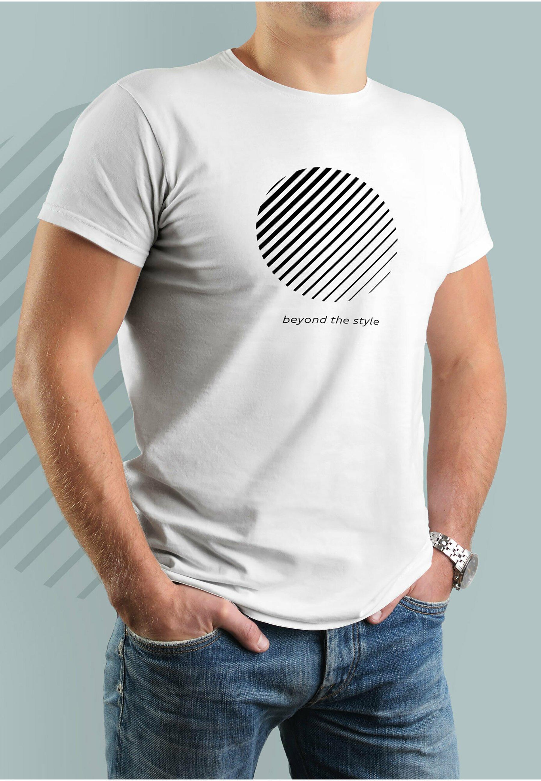 Herren BEYOND THE STYLE MIT ARMBAND AUS LEDER - T-Shirt print