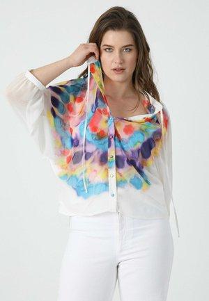 COURTE EN VOILE A - Overhemdblouse - blanc/rose/violet/jaune