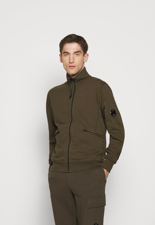 OPEN - veste en sweat zippée - ivy green