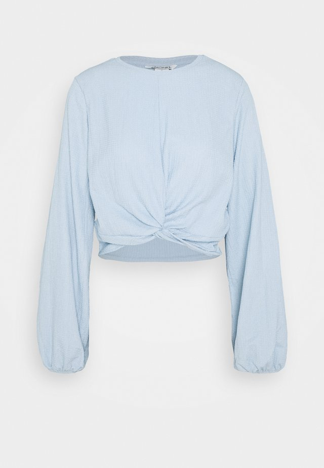 SIRI - Blouse - solid blue as sketch