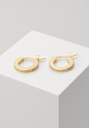 PAVE HUGGIE EARRINGS - Øredobber - gold-coloured