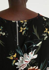 ONLY Carmakoma - CARLUXANNA KNEE DRESS - Day dress - black flower - 6