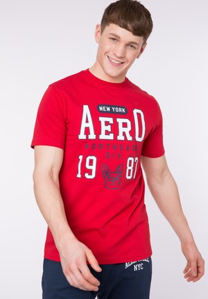 BULLDOG - T-shirt con stampa - red